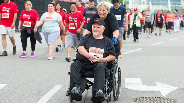 <p>Virtual appointments have helped Chuck Ley and Lorraine Joynt, pictured at Ride for Heart. </p>