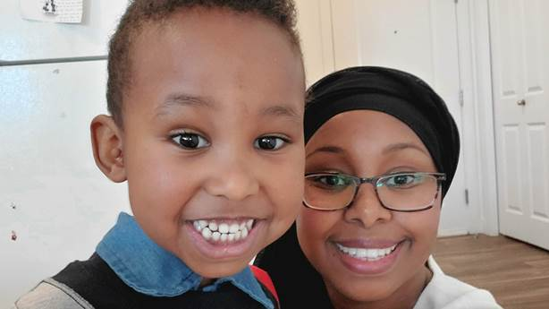 <p>Sudi with her son, Yonis, now three.</p>