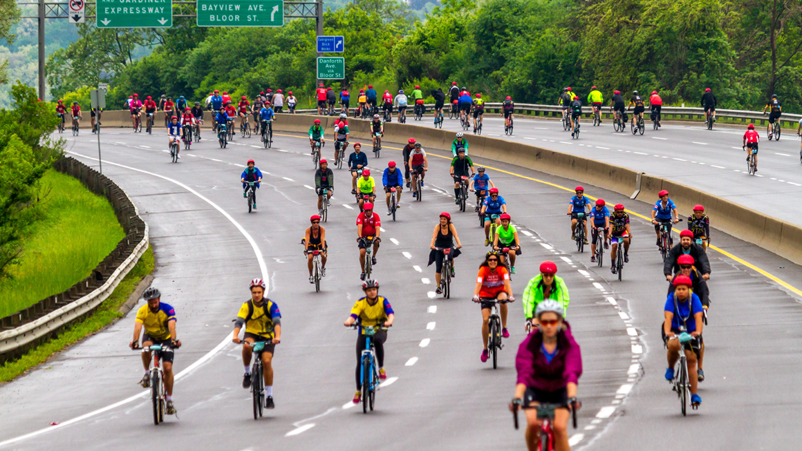 Ride for Heart on the DVP