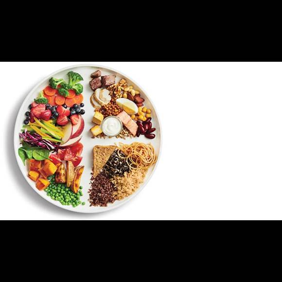 Image of a variety of healthy foods from Health Canada's food guide resources.