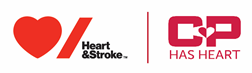 Heart and stroke and CP logo