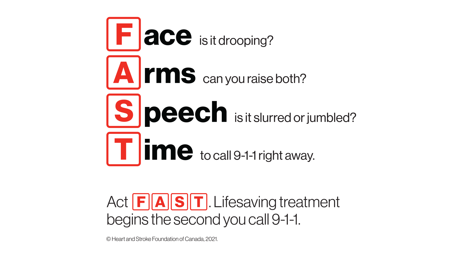 Signs Of Stroke Heart And Stroke Foundation