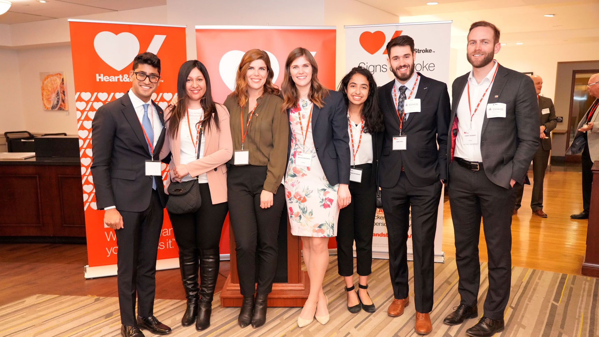 The Heart & Stroke Young Leaders committee at an event