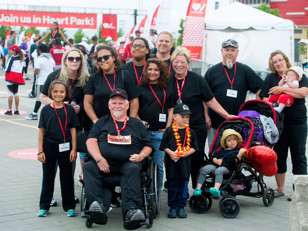 Chuck and Lorraine with their family at Ride for Heart