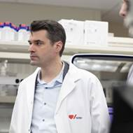 Dr. Pare in his lab