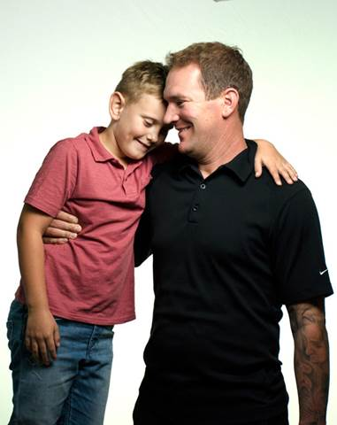 Max Pozzo with his dad, Mike